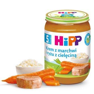 rozszerzanie diety - słoiczki dla dzieci HiPP po 5. miesiącu